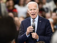 GREENWOOD, SC - NOVEMBER 21: Democratic presidential candidate, former vice President Joe Biden speaks to the audience during a town hall on November 21, 2019 in Greenwood, South Carolina. Polls show Biden with a commanding lead in the early primary state. (Photo by Sean Rayford/Getty Images)