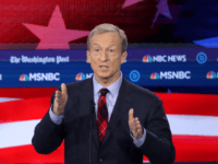 Democratic presidential candidate Tom Steyer speaks during the Democratic Presidential Debate at Tyler Perry Studios November 20, 2019 in Atlanta, Georgia. Ten Democratic presidential hopefuls were chosen from the larger field of candidates to participate in the debate hosted by MSNBC and The Washington Post. (Photo by Alex Wong/Getty Images)
