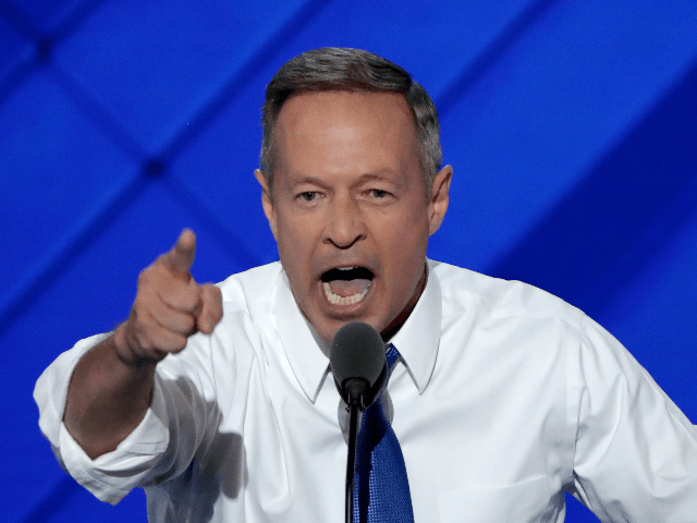Former Gov. Martin O'Malley (D-MD) delivers remarks on the third day of the Democratic National Convention at the Wells Fargo Center, July 27, 2016 in Philadelphia, Pennsylvania. Democratic presidential candidate Hillary Clinton received the number of votes needed to secure the party's nomination. An estimated 50,000 people are expected in …
