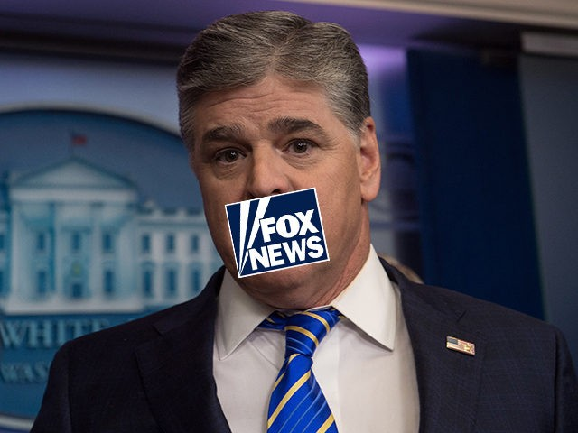 Fox News host Sean Hannity is seen in the White House briefing room in Washington, DC, on January 24, 2017. / AFP / NICHOLAS KAMM (Photo credit should read NICHOLAS KAMM/AFP via Getty Images)