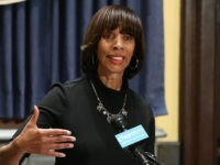 BALTIMORE, MD - AUGUST 16: Baltimore Mayor Catherine Pugh talks about the late night removal of four confederate statues in the city, on August 16, 2017 in Baltimore, Maryland. The City of Baltimore removed four statues celebrating confederate heroes from city parks overnight, following the weekend's violence in Charlottesville, Virginia. …