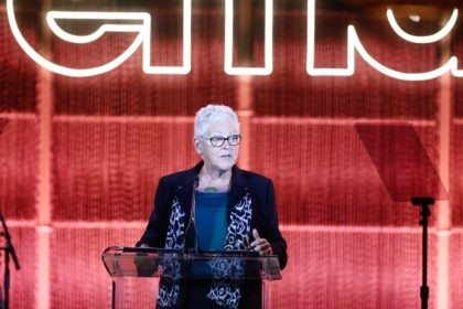 PACIFIC PALISADES, CALIFORNIA - SEPTEMBER 28: Gina McCarthy speaks onstage during the Environmental Media Association 2nd Annual Honors Benefit Gala at Private Residence on September 28, 2019 in Pacific Palisades, California. (Photo by Tommaso Boddi/Getty Images for The Environmental Media Association)