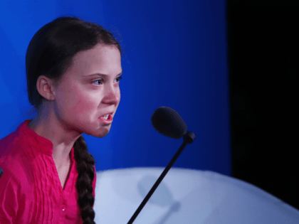 NEW YORK, NEW YORK - SEPTEMBER 23: Greta Thunberg speaks at the United Nations (U.N.) where world leaders are holding a summit on climate change on September 23, 2019 in New York City. While the U.S. will not be participating, China and about 70 other countries are expected to make …