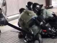 Hong Kong Police Pepper-Spray Pregnant Woman, Drive Motorcycle into Crowd