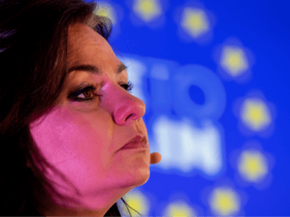 LONDON, ENGLAND - NOVEMBER 07: Liberal Democrats politician Heidi Allen speaks at a press conference announcing a 'remain alliance pact' with the Liberal Democrats, Green and Plaid Cymru on November 7, 2019 in London, England. The three 'Unite to Remain' parties have announced 60 seats where pro EU candidates are …