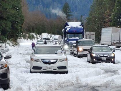 I-5 Grapevine snow (Caltrans via Associated Press)