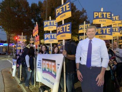 Pete Buttigieg supporters in Atlanta (Joel Pollak / Breitbart News)