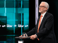 SALFORD, ENGLAND - NOVEMBER 19: (AVAILABLE FOR EDITORIAL USE UNTIL DECEMBER 19, 2019) In this handout image supplied by ITV, Leader of the Labour Party Jeremy Corbyn answers questions during the ITV Leaders Debate at Media Centre on November 19, 2019 in Salford, England. This evening ITV hosted the first …