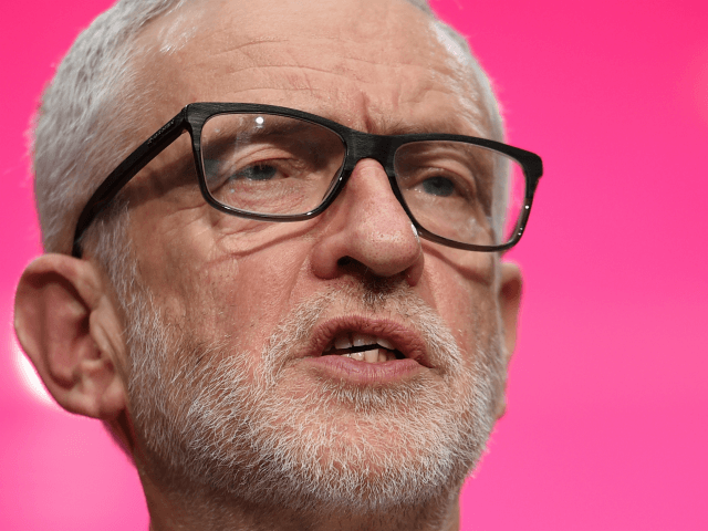 Britain's opposition Labour Party leader Jeremy Corbyn speaks during the launch of the Labour party election manifesto in Birmingham, northwest England on November 21, 2019. - Britain will go to the polls on December 12, 2019 to vote in a pre-Christmas general election. (Photo by Oli SCARFF / AFP) (Photo …
