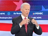 ATLANTA, GEORGIA - NOVEMBER 20: Former Vice President Joe Biden speaks during the Democratic Presidential Debate at Tyler Perry Studios November 20, 2019 in Atlanta, Georgia. Ten Democratic presidential hopefuls were chosen from the larger field of candidates to participate in the debate hosted by MSNBC and The Washington Post. …