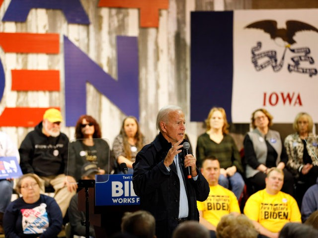 Democratic presidential candidate former Vice President Joe Biden speaks during a town hall meeting, Thursday, Oct. 31, 2019, in Fort Dodge, Iowa. (AP Photo/Charlie Neibergall)