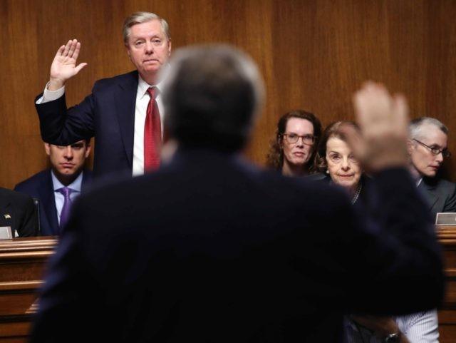 Lindsey Graham swearing in (Win McNamee / Getty)