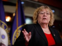 WASHINGTON, DC - FEBRUARY 14: Rep. Zoe Lofgren (D-CA) speaks at a press conference on Capitol Hill on February 14, 2018 in Washington, DC. Pelosi and her fellow Democrats addressed the need for heightened security surrounding the nation's voting systems ahead of the 2018 midterms. (Photo by Aaron P. Bernstein/Getty …