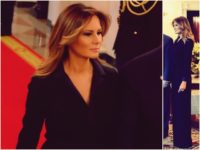 Fashion Notes: Melania Trump Is Regal in 'Duchess Detailed' Tux Jumpsuit by Hervé Pierre