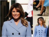 Fashion Notes: Melania Trump Sports Signature Icy Blue in Altuzarra Coat