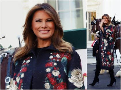 First Lady Melania Trump may have dropped a hint as …
