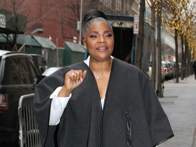 NEW YORK, NY - FEBRUARY 22: Comedian and actress Mo'Nique spotted arriving at 'The View' to talk about the her call for a boycott of Netflix in New York, New York on February 22, 2018. Photo Credit: Rainmaker Photo/MediaPunch/IPX