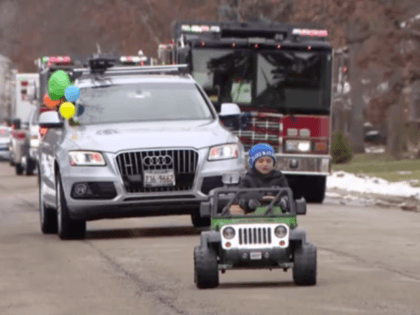 There was even a birthday parade that included police and fire department vehicles in north suburban Lincolnshire, all for Nash Stineman.