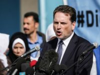 Pierre Krahenbuhl, Commissioner General for the United Nations Relief and Works Agency for Palestine Refugees (UNRWA), speaks during a press conference at an UNRWA school in Gaza City on January 22, 2018. (Photo by MAHMUD HAMS / AFP) (Photo credit should read MAHMUD HAMS/AFP via Getty Images)