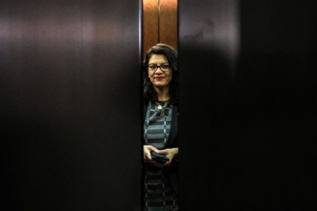 WASHINGTON, DC - OCTOBER 23: Rep. Rashida Tlaib (D-MI) departs after a closed session before the House Intelligence, Foreign Affairs and Oversight committees on Capitol Hill on October 23, 2019 in Washington, DC. Deputy Assistant Secretary of Defense Laura Cooper was on Capitol Hill to testify to the committees for …