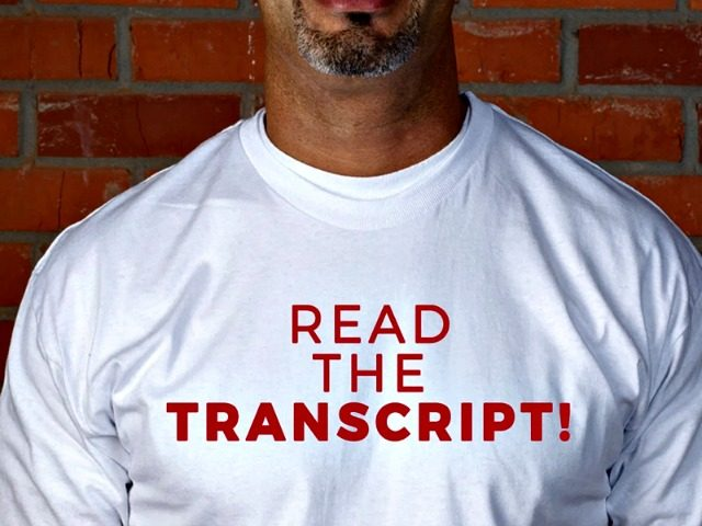 Read the Transcript Shirt