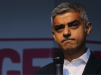 "London Mayor British Sadiq Khan speaks on stage in Parliament Square in central London on October 19, 2019, during a rally by the People's Vote organisation calling for a final say in a second referendum on Brexit. - Thousands of people march to parliament calling for a ""People's Vote"", with …"
