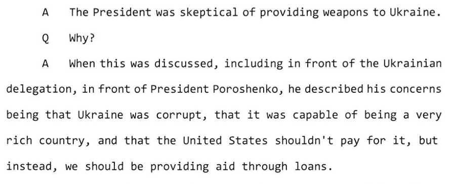 Croft on Poroshenko (Screenshot / HPSCI)