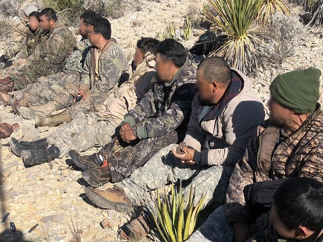 Alpine Station Border Patrol agents apprehended a group of Texas migrants in camouflage after they illegally crossed the border from Mexico into Texas. (Photo: U.S. Border Patrol/Big Bend Sector)
