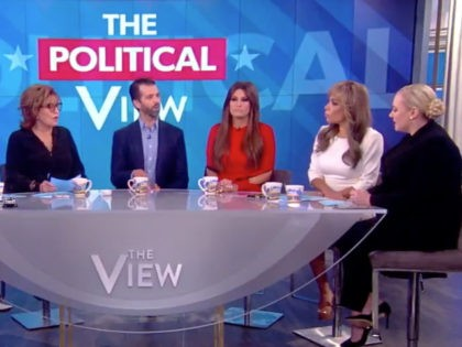 Donald Trump Jr. and girlfriend Kimberly Guilfoyle appeared on The View on November 7, 2019.