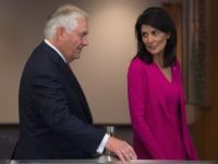 Tillerson and Haley (Bryan R. Smith / AFP / Getty)