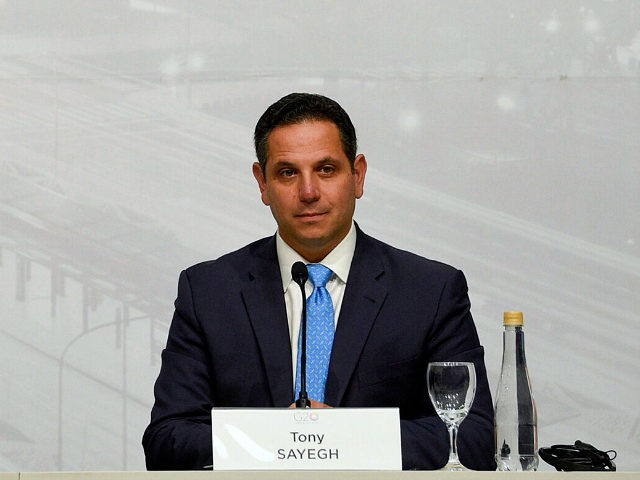 FILE - In this July 22, 2018, file photo, then-U.S. Assistant Treasury Secretary Tony Sayegh speaks during the G20 meeting of Finance Ministers and Central Bank governors in Buenos Aires, Argentina. The White House is beefing up its communications staff as it tries to grapple with the ongoing House impeachment …