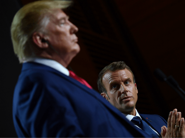 US President Donald Trump (L) and French President Emmanuel Macron give a joint press conference in Biarritz, south-west France on August 26, 2019, on the third day of the annual G7 Summit attended by the leaders of the world's seven richest democracies, Britain, Canada, France, Germany, Italy, Japan and the …
