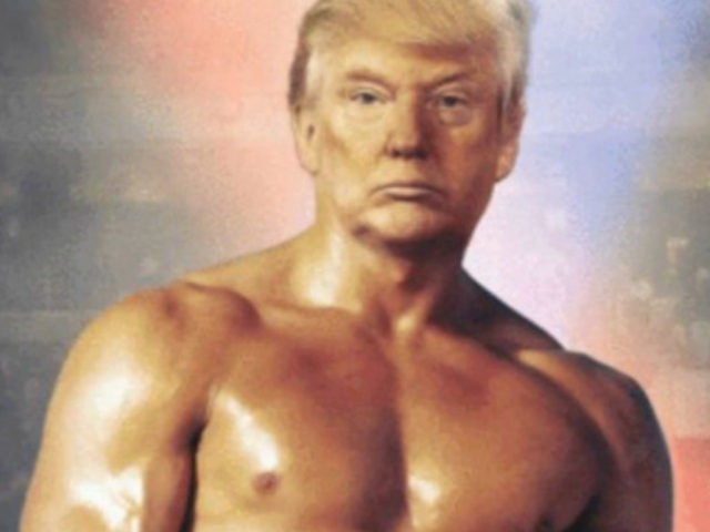Trump tweets photo of himself as Rocky