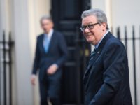 LONDON, ENGLAND - JANUARY 24: Australian High Commissioner to the United Kingdom Alexander Downer is pictured as he arrives with the Treasurer of Australia Scott Morrison to meet British Chancellor of the Exchequer Philip Hammond (L) at Number 11 Downing Street on January 24, 2017 in London, England. Mr Hammond …