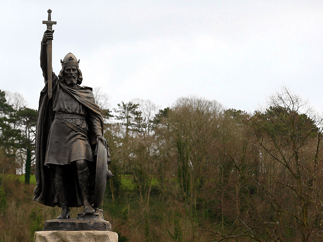 A general view of a statue of Alfred The Great on February 6, 2013 in Winchester, England