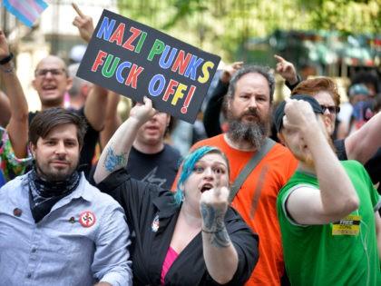 anti-Trump protesters