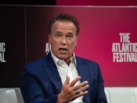 Actor and former Governor of California Arnold Schwarzenegger speaks at the Atlantic Festival in Washington, DC, on September 25, 2019. (Photo by NICHOLAS KAMM / AFP) (Photo credit should read NICHOLAS KAMM/AFP via Getty Images)