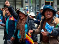 "Supporters of Bolivian ex-President Evo Morales and locals discontented with the political situation march during a protest from El Alto to La Paz on November 13, 2019. - Bolivia's exiled ex-president Evo Morales said Wednesday he was ready to return to ""pacify"" his country amid weeks of unrest that led …"