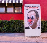 Street Artist Sabo Skewers Adam Schiff, Impeachment Hearings as 'Shameless'