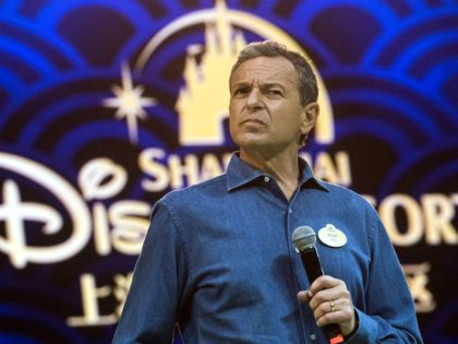 Chairman and CEO of Walt Disney Bob Iger holds a press conference at Shanghai Disney Resort in Shanghai on June 15, 2016. The Magic Kingdom comes to the Middle Kingdom this week when Disney opens its first theme park in mainland China, betting the growing middle class will spend big …