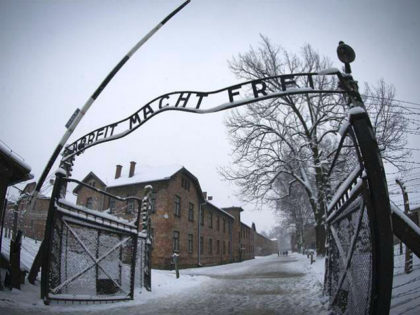 The entrance to the former Nazi concentration camp Auschwitz-Birkenau with the lettering 'Arbeit macht frei' ('Work makes you free') is pictured in Oswiecim, Poland on January 25, 2015, days before the 70th anniversary of the liberation of the camp by Russian forces. (Photo by Joël SAGET / AFP) (Photo credit …