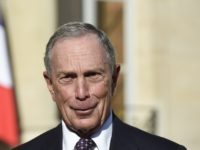 US magnate and philanthropists, and UN Secretary-General's Special Envoy for Cities and Climate Change, Michael Bloomberg, delivers a statement following his meeting with the French president at the Elysee palace on June 30, 2015, in Paris. AFP PHOTO / ALAIN JOCARD (Photo credit should read ALAIN JOCARD/AFP via Getty Images)