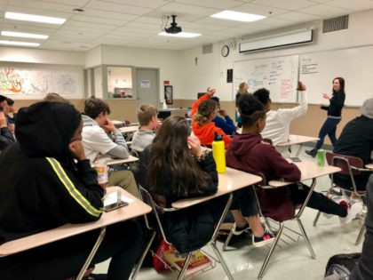 Instructors from Raphael House lead a classroom discussion about consent and healthy relationships with a class of sophomores at Central Catholic High School in Portland, Ore., on April 15, 2019. What's happening at this Catholic school in liberal Portland represents a larger debate unfolding in blue states and red, as …