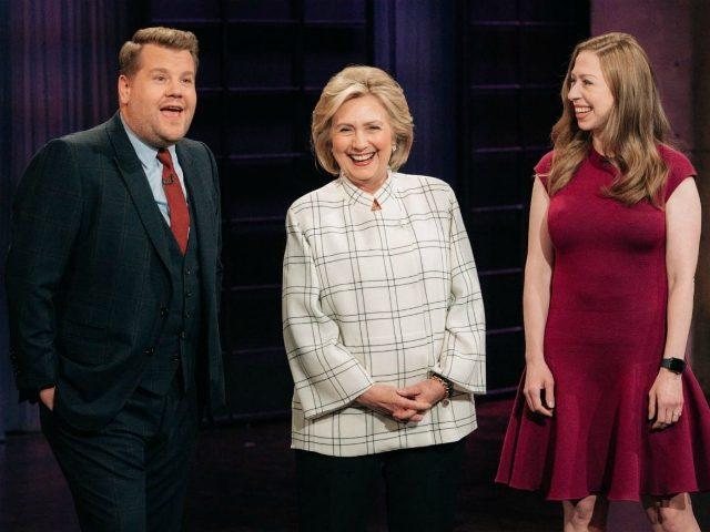 Hillary & Chelsea Clinton Crash James Corden's Monologue & Play 'Face Your Mother'