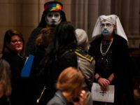 Sisters of Perpetual Indulgence attend the remembrance ceremony for Matthew Shepard at the Washington National Cathedral on October 26, 2018, in Washington, DC. - Two decades ago the brutal killing of Matthew Shepard, a 21-year-old gay college student, sent shockwaves across the United States, raising awareness about violence against homosexuals …