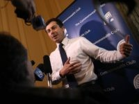 SAN FRANCISCO, CALIFORNIA - MARCH 28: Democratic presidential hopeful South Bend, Indiana mayor Pete Buttigieg speaks to members of the media before appearing at the Commonwealth Club of California on March 28, 2019 in San Francisco, California. Pete Buttigieg is campaigning in San Francisco. (Photo by Justin Sullivan/Getty Images)