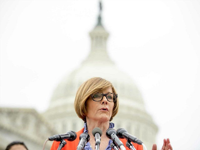 "Rep. Susie Lee, D-Nev., speaks at a news conference on Capitol Hill in Washington, Thursday, Jan. 17, 2019, to unveil the ""Immediate Financial Relief for Federal Employees Act"" bill which would give zero interest loans for up to $6,000 to employees impacted by the government shutdown and any future shutdowns. …"