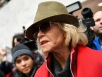 Actress and activist Jane Fonda speaks to reporters inside the Heart Senate office building during a climate change protest on November 1, 2019 in Washington, DC. (Photo by Mandel NGAN / AFP) (Photo by MANDEL NGAN/AFP via Getty Images)