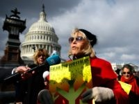 Video: Jane Fonda Storms Senate Building During Climate Change Protest