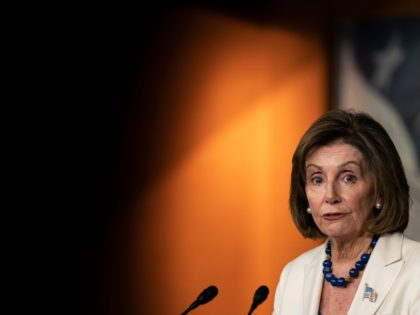 WASHINGTON, DC - NOVEMBER 21: House Speaker Nancy Pelosi (D-CA) speaks to the media during her weekly press conference at the U.S. Capitol on November 21, 2019 in Washington, DC. Pelosi spoke about her legislative plans through the new year and the lack of progress she feels the Senate is …